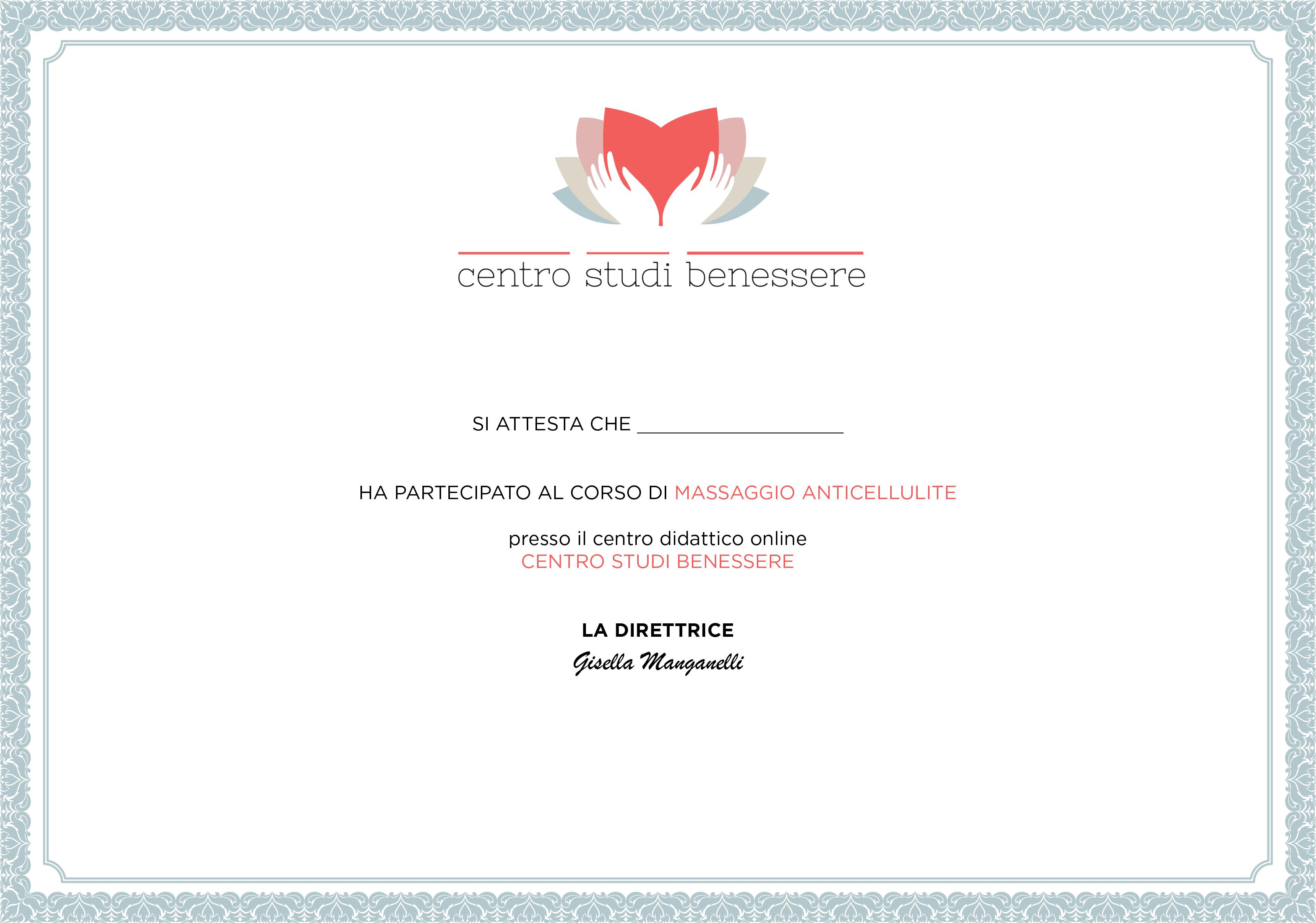 Massaggio Anticellulite Certificato