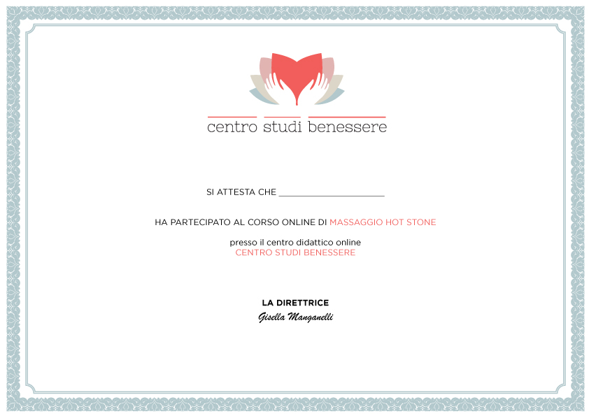 Corso Hot Stone Certificato