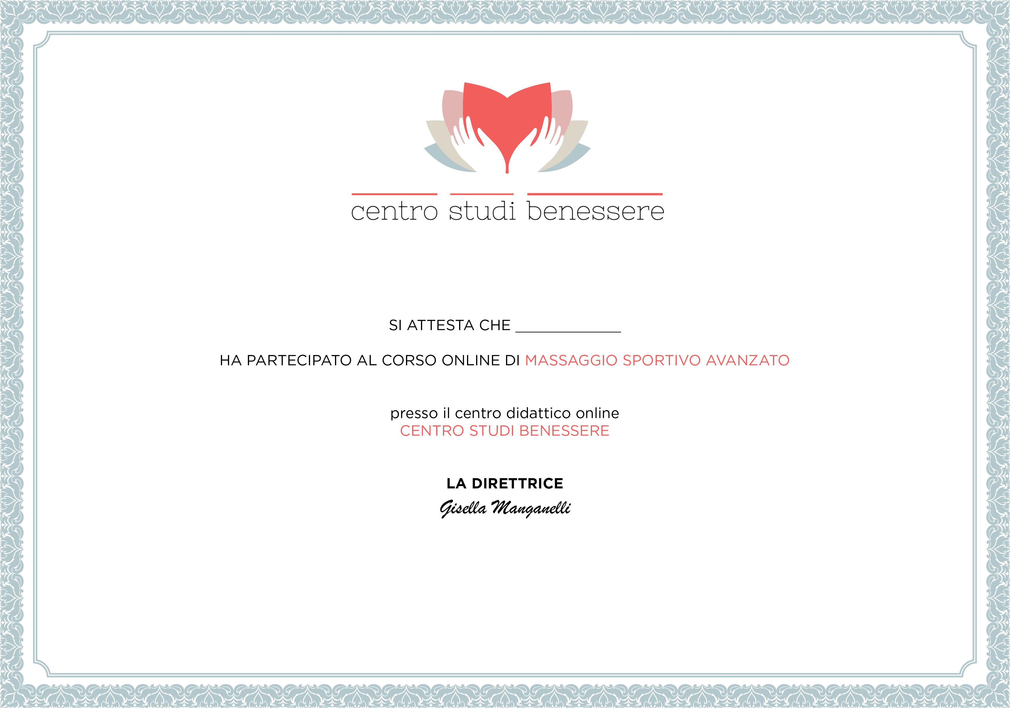 Corso online di Massaggio Sportivo Avanzato
